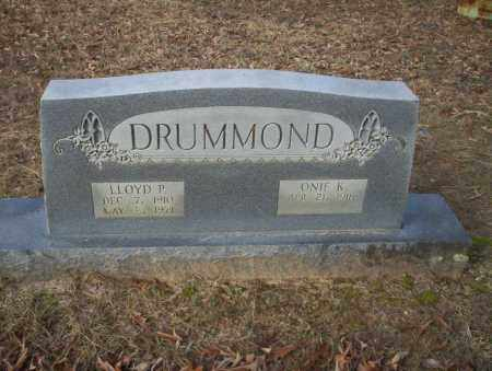 DRUMMOND, LLOYD P - Ouachita County, Arkansas | LLOYD P DRUMMOND - Arkansas Gravestone Photos