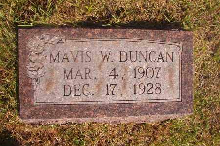 DUNCAN, MAVIS W - Ouachita County, Arkansas | MAVIS W DUNCAN - Arkansas Gravestone Photos
