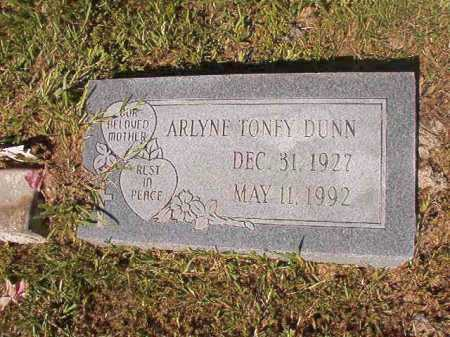 TONEY DUNN, ARLYNE - Ouachita County, Arkansas | ARLYNE TONEY DUNN - Arkansas Gravestone Photos