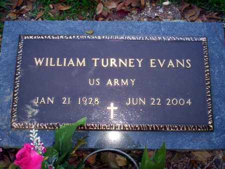 EVANS  (VETERAN), WILLIAM TURNEY - Ouachita County, Arkansas | WILLIAM TURNEY EVANS  (VETERAN) - Arkansas Gravestone Photos