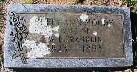 MOODY FRANKLIN, BETTY ANN - Ouachita County, Arkansas | BETTY ANN MOODY FRANKLIN - Arkansas Gravestone Photos