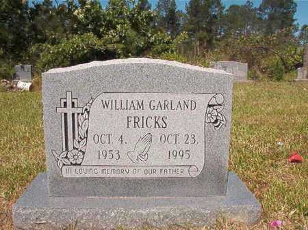 FRICKS, WILLIAM GARLAND - Ouachita County, Arkansas | WILLIAM GARLAND FRICKS - Arkansas Gravestone Photos