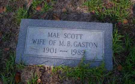 SCOTT GASTON, MAE - Ouachita County, Arkansas | MAE SCOTT GASTON - Arkansas Gravestone Photos