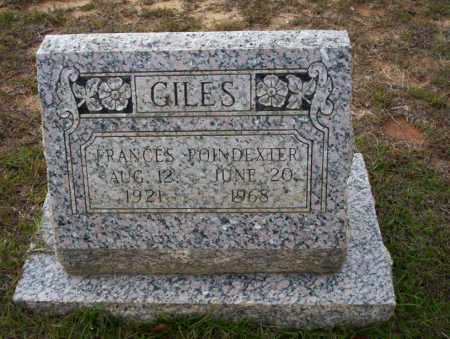POINDEXTER GILES, FRANCES - Ouachita County, Arkansas | FRANCES POINDEXTER GILES - Arkansas Gravestone Photos