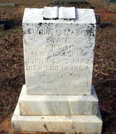 EVANS GILLESPIE, LUCINDA ELIZABETH - Ouachita County, Arkansas | LUCINDA ELIZABETH EVANS GILLESPIE - Arkansas Gravestone Photos