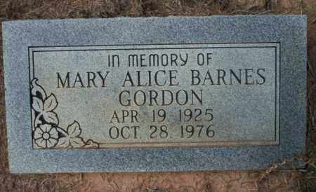 GORDON, MARY ALICE - Ouachita County, Arkansas | MARY ALICE GORDON - Arkansas Gravestone Photos