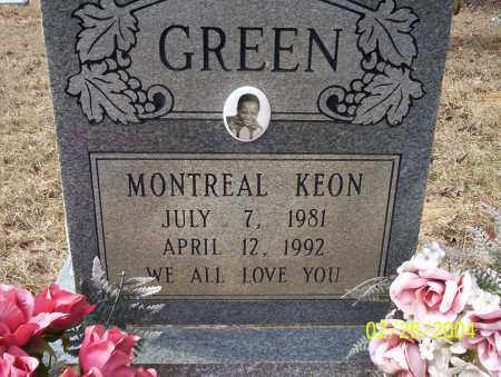 GREEN, MONTREAL KEON - Ouachita County, Arkansas | MONTREAL KEON GREEN - Arkansas Gravestone Photos