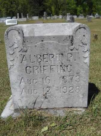 GRIFFING, ALBERT P - Ouachita County, Arkansas | ALBERT P GRIFFING - Arkansas Gravestone Photos