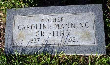 MANNING GRIFFING, CAROLINE - Ouachita County, Arkansas | CAROLINE MANNING GRIFFING - Arkansas Gravestone Photos