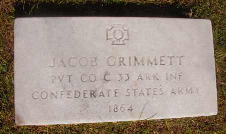 GRIMMETT (VETERAN CSA), JACOB - Ouachita County, Arkansas | JACOB GRIMMETT (VETERAN CSA) - Arkansas Gravestone Photos