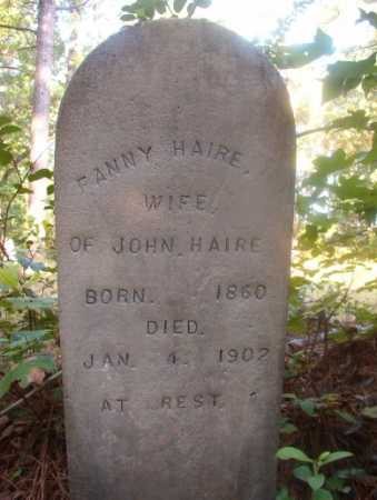 HAIRE, FANNY - Ouachita County, Arkansas | FANNY HAIRE - Arkansas Gravestone Photos