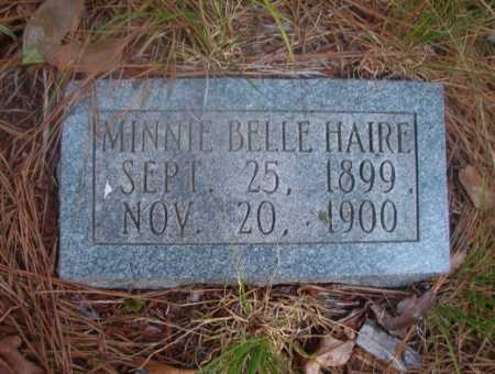 HAIRE, MINNIE BELLE - Ouachita County, Arkansas | MINNIE BELLE HAIRE - Arkansas Gravestone Photos