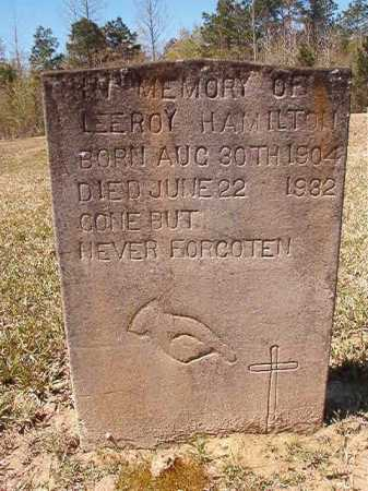 HAMILTON, LEEROY - Ouachita County, Arkansas | LEEROY HAMILTON - Arkansas Gravestone Photos