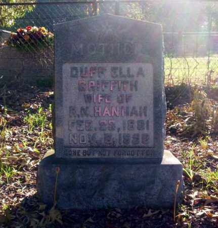 HANNAH, DUFF ELLA - Ouachita County, Arkansas | DUFF ELLA HANNAH - Arkansas Gravestone Photos
