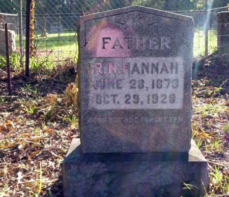HANNAH, R.N. - Ouachita County, Arkansas | R.N. HANNAH - Arkansas Gravestone Photos
