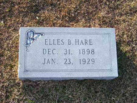 HARE, ELLES B - Ouachita County, Arkansas | ELLES B HARE - Arkansas Gravestone Photos