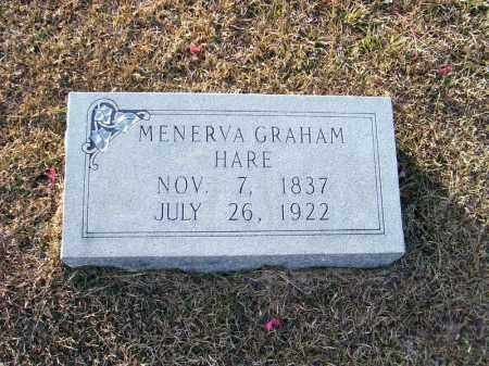 GRAHAM HARE, MENERVA - Ouachita County, Arkansas | MENERVA GRAHAM HARE - Arkansas Gravestone Photos