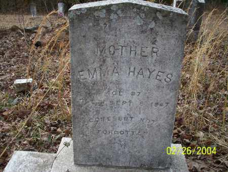 HAYES, EMMA - Ouachita County, Arkansas | EMMA HAYES - Arkansas Gravestone Photos