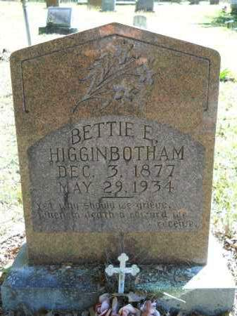 HIGGINBOTHAM, BETTIE E - Ouachita County, Arkansas | BETTIE E HIGGINBOTHAM - Arkansas Gravestone Photos
