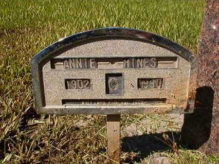 HINES, ANNIE - Ouachita County, Arkansas | ANNIE HINES - Arkansas Gravestone Photos