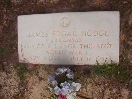 HODGE (VETERAN WWI), JAMES EDGAR - Ouachita County, Arkansas | JAMES EDGAR HODGE (VETERAN WWI) - Arkansas Gravestone Photos