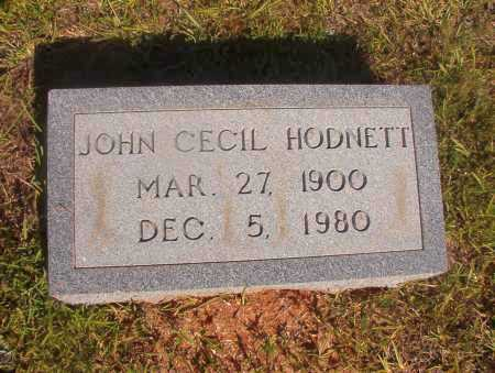 HODNETT, JOHN CECIL - Ouachita County, Arkansas | JOHN CECIL HODNETT - Arkansas Gravestone Photos
