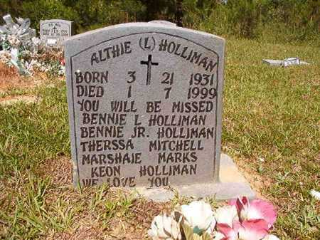 HOLLIMAN, ALTHIE L - Ouachita County, Arkansas | ALTHIE L HOLLIMAN - Arkansas Gravestone Photos