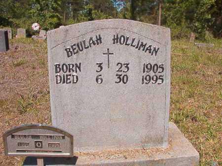 HOLLIMAN, BEULAH - Ouachita County, Arkansas | BEULAH HOLLIMAN - Arkansas Gravestone Photos