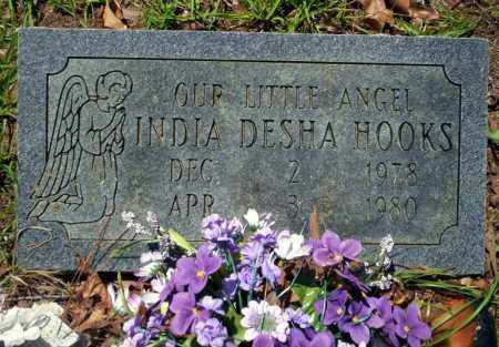 HOOKS, INDIA DESHA - Ouachita County, Arkansas | INDIA DESHA HOOKS - Arkansas Gravestone Photos