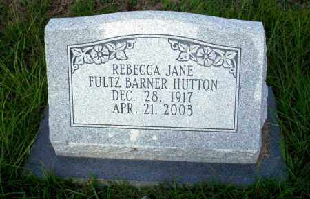FULTZ - BARNER HUTON, REBECCA JANE - Ouachita County, Arkansas | REBECCA JANE FULTZ - BARNER HUTON - Arkansas Gravestone Photos