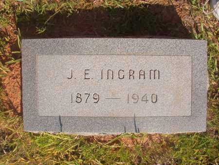 INGRAM, J E - Ouachita County, Arkansas | J E INGRAM - Arkansas Gravestone Photos