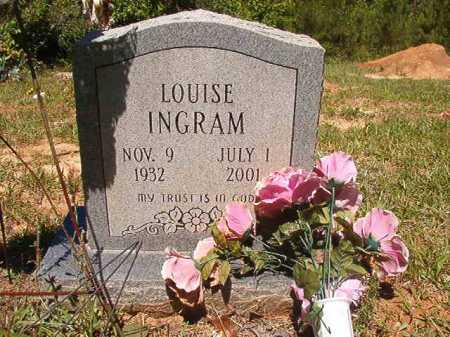 INGRAM, LOUISE - Ouachita County, Arkansas | LOUISE INGRAM - Arkansas Gravestone Photos