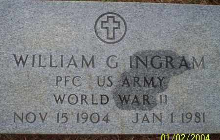 INGRAM (VETERAN WWII), WILLIAM G - Ouachita County, Arkansas | WILLIAM G INGRAM (VETERAN WWII) - Arkansas Gravestone Photos