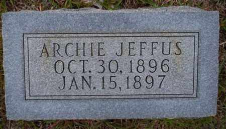 JEFFUS, ARCHIE - Ouachita County, Arkansas | ARCHIE JEFFUS - Arkansas Gravestone Photos