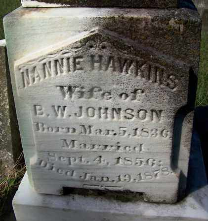 HAWKINS JOHNSON, NANNIE - Ouachita County, Arkansas | NANNIE HAWKINS JOHNSON - Arkansas Gravestone Photos