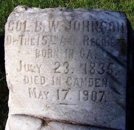 JOHNSON (VETERAN CSA), B W - Ouachita County, Arkansas | B W JOHNSON (VETERAN CSA) - Arkansas Gravestone Photos