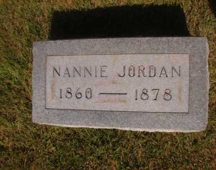 JORDAN, NANNIE - Ouachita County, Arkansas | NANNIE JORDAN - Arkansas Gravestone Photos