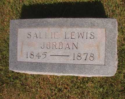 LEWIS JORDAN, SALLIE - Ouachita County, Arkansas | SALLIE LEWIS JORDAN - Arkansas Gravestone Photos