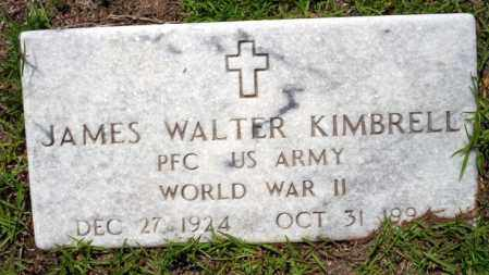 KIMBRELL  VETERAN WWII), JAMES WALTER - Ouachita County, Arkansas | JAMES WALTER KIMBRELL  VETERAN WWII) - Arkansas Gravestone Photos