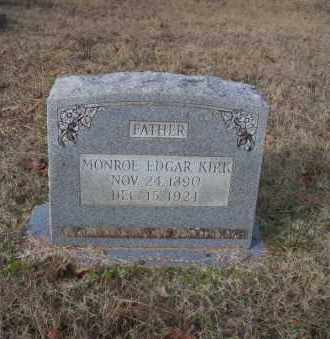 KIRK, MONROE EDGAR - Ouachita County, Arkansas | MONROE EDGAR KIRK - Arkansas Gravestone Photos