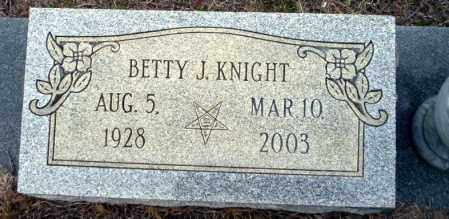 KNIGHT, BETTY J - Ouachita County, Arkansas | BETTY J KNIGHT - Arkansas Gravestone Photos