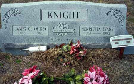 EVANS KNIGHT, HENRIETTA - Ouachita County, Arkansas | HENRIETTA EVANS KNIGHT - Arkansas Gravestone Photos