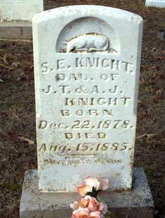 KNIGHT, S.E. - Ouachita County, Arkansas | S.E. KNIGHT - Arkansas Gravestone Photos