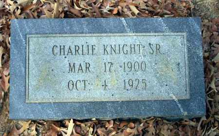 KNIGHT SR., CHARLIE - Ouachita County, Arkansas | CHARLIE KNIGHT SR. - Arkansas Gravestone Photos