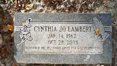 LAMBERT, CYNTHIA JO - Ouachita County, Arkansas | CYNTHIA JO LAMBERT - Arkansas Gravestone Photos