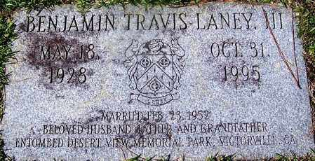 LANEY, III, BENJAMIN TRAVIS - Ouachita County, Arkansas | BENJAMIN TRAVIS LANEY, III - Arkansas Gravestone Photos