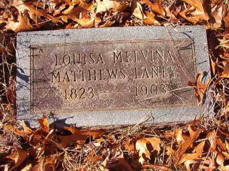 MATTHEWS LANEY, LOUISA MELVINA - Ouachita County, Arkansas | LOUISA MELVINA MATTHEWS LANEY - Arkansas Gravestone Photos