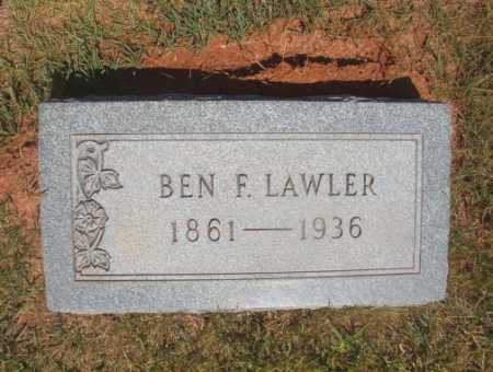 LAWLER, BEN F - Ouachita County, Arkansas | BEN F LAWLER - Arkansas Gravestone Photos