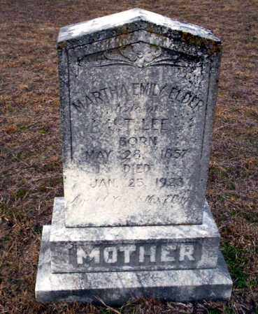 ELDER LEE, MARTHA EMILY - Ouachita County, Arkansas | MARTHA EMILY ELDER LEE - Arkansas Gravestone Photos