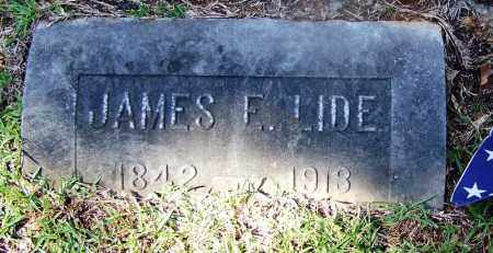 LIDE (VETERAN CSA), JAMES F - Ouachita County, Arkansas | JAMES F LIDE (VETERAN CSA) - Arkansas Gravestone Photos